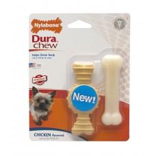 Nylabone Dura Chew 2-p ringbone&bone chicken mini 2 st