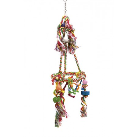 Beeztees Agapornide Carrousel - Vogelspeelgoed - 67x20 cm 67 X 20 CM
