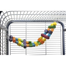 Beeztees Ladder+Blokken - Papegaai - 64x18 cm 64 X 18 CM