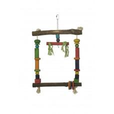 Beeztees Papegaaienschommel - Vogelspeelgoed - 35x56 cm 35 X 56 CM