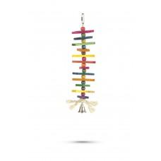 Beeztees Wixie - Vogelspeelgoed - Hout - 35 cm 25 CM
