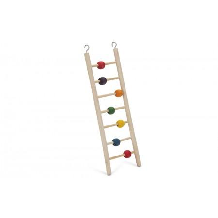 Beeztees Beady Ladder - Vogelspeelgoed - 7 Treden - 30 cm 30 X 9 CM