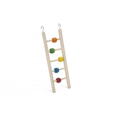 Beeztees Beady Ladder - Vogelspeelgoed - 5 Treden - 23 cm 23 X 7 CM