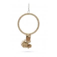 Beeztees Ringy - Vogelspeelgoed - Hout - Bruin - 48 cm 48 CM