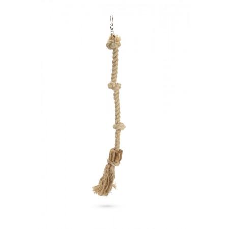 Beeztees Aiko - Vogelspeelgoed - Hout - Bruin - M - 72 cm 72 CM