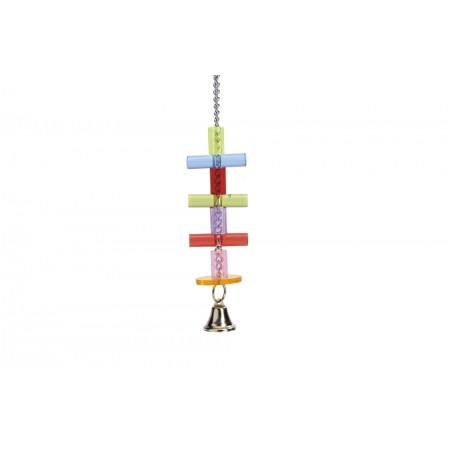 Beeztees Hangspeeltje Staaf+Bel - Vogelspeelgoed - 23 cm 23 CM
