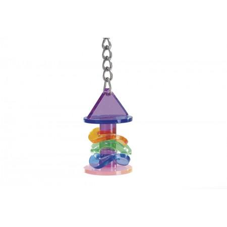 Beeztees Cirkel - Vogelspeelgoed - Acryl - 14 cm 14 CM