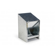 Voerautomaat met Deksel - Vogel - Metaal - 2,5Kg INHOUD: 2,5 KG