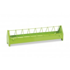 Kippenvoerbak - Metaal - Groen - 50 cm 50 X 10 X 13 CM