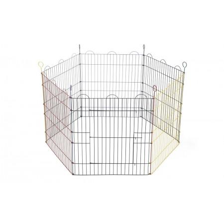 Beeztees - Knaagdierenren - 6 Panelen - 105x105x58 cm DIA 105 CM