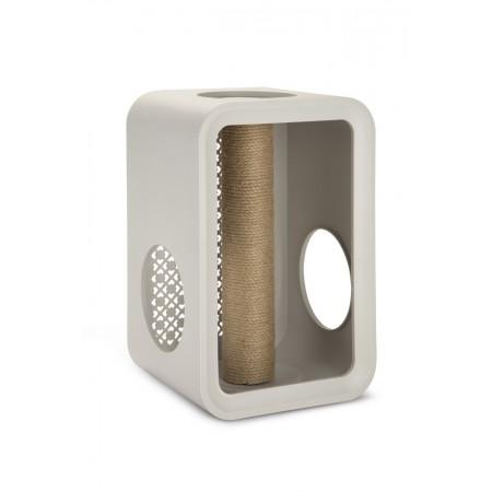 Beeztees Cat Cube Scratch - Kattenhuis - Dune Grey - 49 cm 49 X