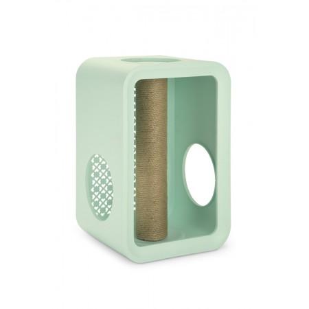 Beeztees Cat Cube Scratch - Kattenhuis - Mellow Mint - 49 cm 49