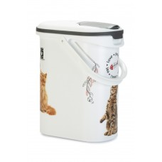 Curver - Voedselcontainer Kat - Wit - 10L - 4Kg INHOUD 10 LTR