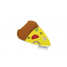 Beeztees Pizza - Kattenspeelgoed - Geel - 10,5x7,5x1,5 cm 10,5 X