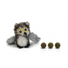 Beeztees Uil - Kattenspeelgoed - Incl. Catnipballen - 9,5 cm 9,5
