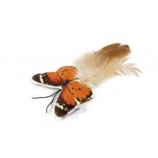 Beeztees Fligo Vlinder - Kattenspeelgoed - Oranje - 8 cm 8 CM