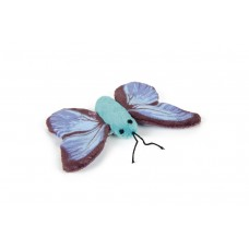 Beeztees Sparky Vlinder - Kattenspeelgoed - Blauw - 11 cm 11 CM