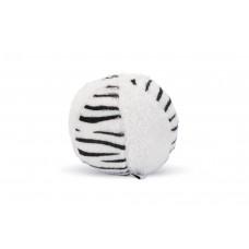 Beeztees Beasty Bal - Hondenspeelgoed - Wit/Zwart- 11x11x11 cm D