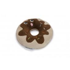 Beeztees Choco Donut - Hondenspeelgoed - Bruin - 14x14x3 cm 14 X
