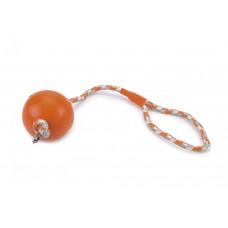 Beeztees Bal No3+Koord - Hondenspeelgoed - Oranje - 30 cm DIA. B