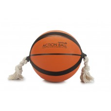 Beeztees Action Basketbal - Hondenspeelgoed - Oranje - 24 cm DIA