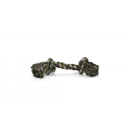 Beeztees - Flostouw - 2 Knopen - Camouflage/Groen - 25 gram 25 G