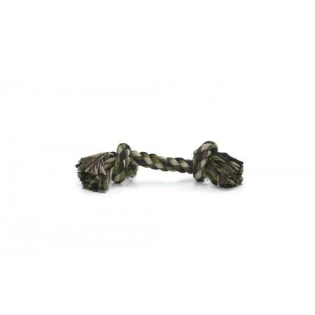 Beeztees - Flostouw - 2 Knopen - Camouflage/Groen - 125 gram 25X