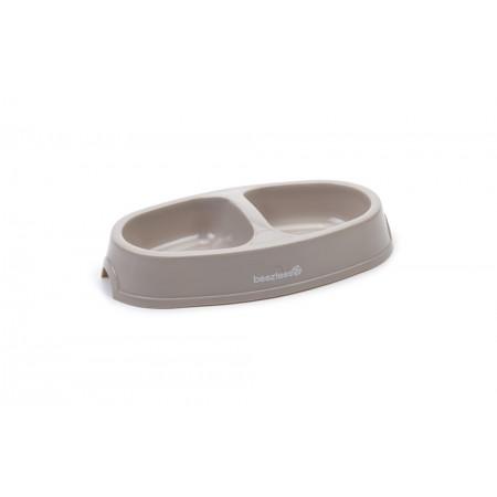 Beeztees - Dinerset Kat - Plastic - Beige - 2x0,15L DIA: 2X10CM
