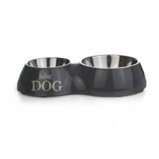 Beeztees Best Dog - Dinerset Hond - Grijs - 31x17,5 cm 31 X 17,5
