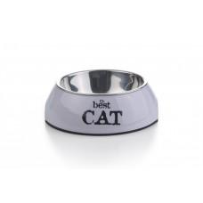 Beeztees Best Cat - Kattenvoerbak - Paars - 14x4,5 cm 14 X 4,5 C