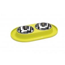 Beeztees - Dinerset Hond - Siliconen - Groen - 31x19 cm 31 X 19