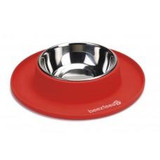 Beeztees - Hondenvoerbak - Siliconen - Rood - 24x4,5 cm 24 X 4,5