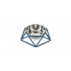 Beeztees Puroni - Kattenvoerbak - Blauw- 15 cm 15 X 15 X 4,8 CM,