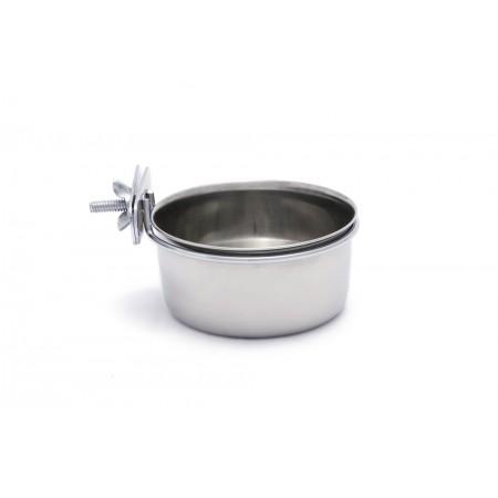 Beeztees Coopcup Inox+Schroef - Hondenvoerbak - 0,3L - 9 cm DIA