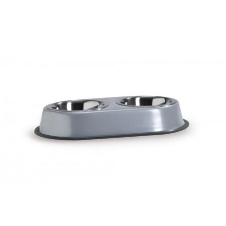 Beeztees - Dinerset Hond - Incl. 2 RVS bakken - Grijs - 0,35L 36