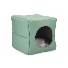 Beeztees Boxi - Kattenhuis - Groen/Grijs - 37x33x33 cm 37 X 33 X
