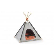 Beeztees Mohaki Tipi Tent - Kattenhuis - Grijs - 50x50x70 cm 50