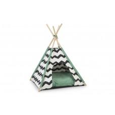 Beeztees Kioni Tipi Tent - Kattenhuis - Zwart/Wit - 50x50x70 cm