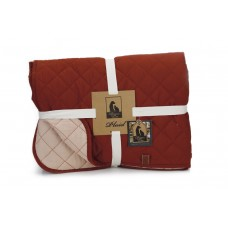Designed by Lotte Futon - Hondendeken - Bordeaux/Roze - 200x150