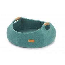 Beeztees Minoq - Kattenmand - Textiel - Turquoise - 43,5 cm 43,5