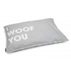 Beeztees Woof You - Hondenkussen - Licht Grijs - 100x70 cm 100 X
