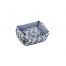 Beeztees Zigzag - Hondenmand - Blauw - 55x50x20 cm 55 X 50 X 20
