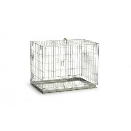 Beeztees - Hondenbench - 2 Deurs - Verzinkt - 78x55x61 cm 78 X 5