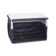 Beeztees Benco Benchhoes - Hond - Beige/Blauw - 109x69x75 cm 109