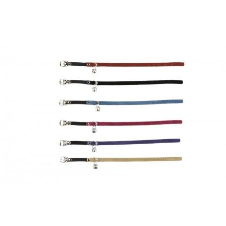 Beeztees - Kattenhalsband - Suede - Lichtblauw - 23-27,5 cm 23-2
