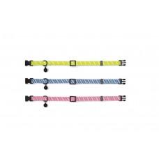 Beeztees - Kattenhalsband - Nylon - Roze - 22-33 cm 22 TOT 33 CM