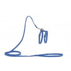 Beeztees - Kattentuigje - Nylon - Blauw - 130 cm x 10 mm LOOPLIJ