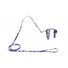Beeztees Stripes - Kattentuig - Nylon - Blauw - 27-45 cm TUIGJE