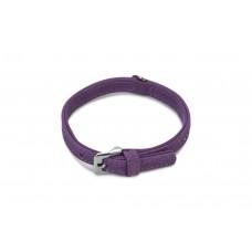 Beeztees Buffalo - Halsband Hond - Leer - Paars - 23-29 cm 23-29
