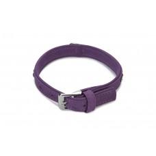 Beeztees Buffalo - Halsband Hond - Leer - Paars - 25-31 cm 25-31